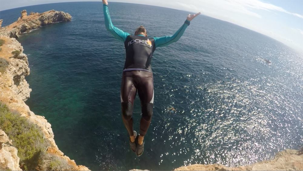 canarabi.com ibiza cliff diving